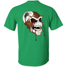 Load image into Gallery viewer, Dark Side Racing 2-sided print w/ skull on back G200B Gildan Youth Ultra Cotton T-Shirt