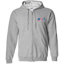 Load image into Gallery viewer, AFA embroidered logo G186 Gildan Zip Up Hooded Sweatshirt