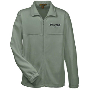 Roxtar Trux black and silver embroidered logo M990 Harriton Fleece Full-Zip