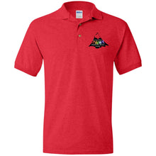 Load image into Gallery viewer, CO Springs Home School Sports League embroidered logo G880 Gildan Jersey Polo Shirt