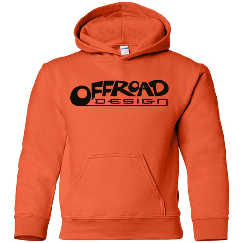 Offroad Design black logo G185B Gildan Youth Pullover Hoodie