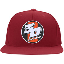 Load image into Gallery viewer, 3D Offroad embroidered 6297F Flat Bill Fulback Twill Flexfit Cap