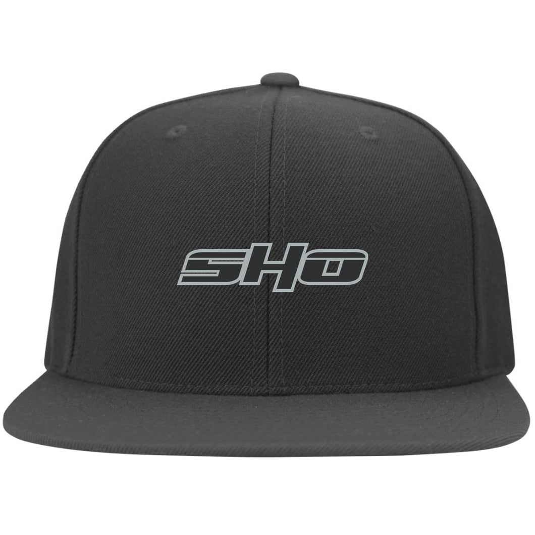 SHO embroidered 6297F Flat Bill Fulback Twill Flexfit Cap