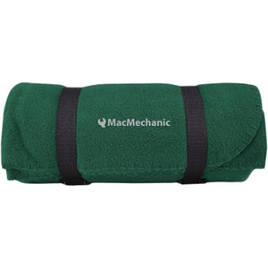 MacMechanic silver embroidered logo BP10 Port & Co. Fleece Blanket