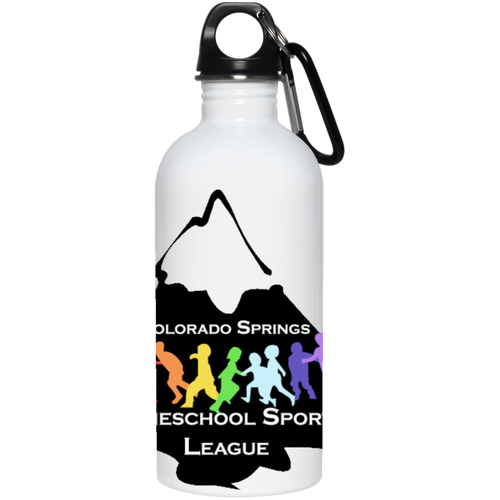 CO Springs Home School Sports League full wrap-around logo 23663 20 oz. Stainless Steel Water Bottle