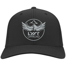 Load image into Gallery viewer, Lyft Off Road silver embroidered C813 Port Authority Flex Fit Twill Baseball Cap