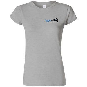 AVD black logo 2-sided print G640L Gildan Softstyle Ladies' fitted T-Shirt