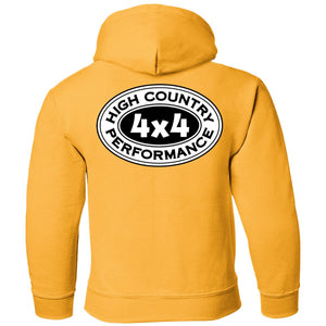 HCP4x4 black & white logo 2-sided print G185B Gildan Youth Pullover Hoodie