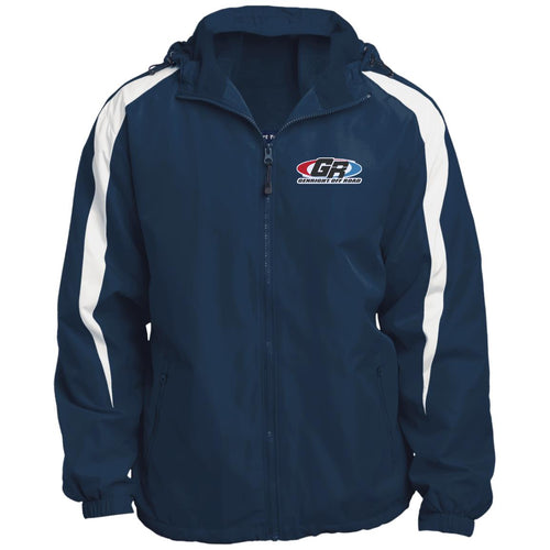 GenRight embroidered logo JST81 Fleece Lined Colorblocked Hooded Jacket