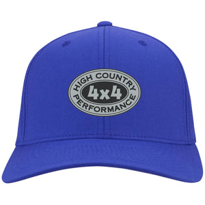 HCP4x4 silver & black embroidered logo C813 Port Authority Flex Fit Twill Baseball Cap