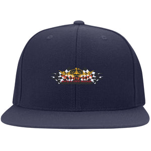 Scorpion embroidered logo 6297F Flat Bill Fulback Twill Flexfit Cap