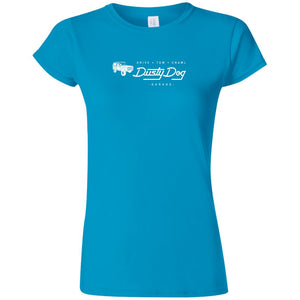 Dusty Dog white logo 2-sided print G640L Gildan Softstyle Ladies' T-Shirt