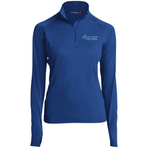Roxtar Trux blue and silver embroidered logo LST850 Sport-Tek Women's 1/2 Zip Performance Pullover