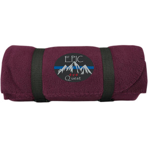 EPIC 4x4 Quest embroidered logo BP10 Port & Co. Fleece Blanket