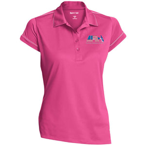 AFA embroidered logo LST659 Sport-Tek Ladies' Contrast Stitch Performance Polo