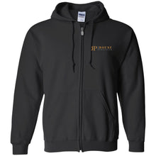 Load image into Gallery viewer, Rouse Projects - Gold & Silver embroidered G186 Gildan Zip Up Hooded Sweatshirt