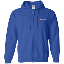 Load image into Gallery viewer, Drives at Mile High embroidered logo G186 Gildan Zip Up Hooded Sweatshirt
