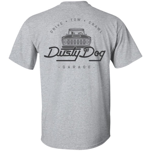 Dusty Dog gray logo 2-sided print G200 Gildan Ultra Cotton T-Shirt