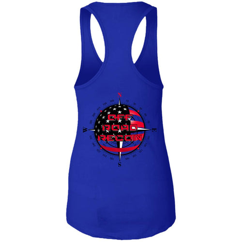 Off-Road Recon 2-sided print 2-sided print NL1533 Next Level Ladies Ideal Racerback Tank
