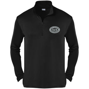 HCP4x4 silver & black embroidered logo ST357 Sport-Tek Competitor 1/4-Zip Pullover
