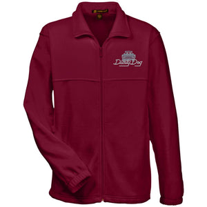Dusty Dog silver embroidered logo M990 Harriton Fleece Full-Zip