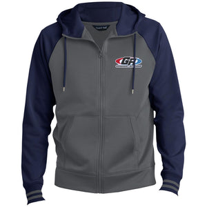 GenRight embroidered logo ST236 Men's Sport-Wick® Full-Zip Hooded Jacket