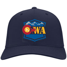 Load image into Gallery viewer, CWA embroidered logo C813 Port Authority Flex Fit Twill Baseball Cap