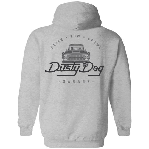 Dusty Dog gray logo 2-sided print G185 Gildan Pullover Hoodie 8 oz.
