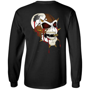 Dark Side Racing 2-sided print w/ skull on back G240 Gildan LS Ultra Cotton T-Shirt