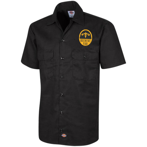 Beehive FAB embroidered logo 1574 Dickies Men's Short Sleeve Workshirt