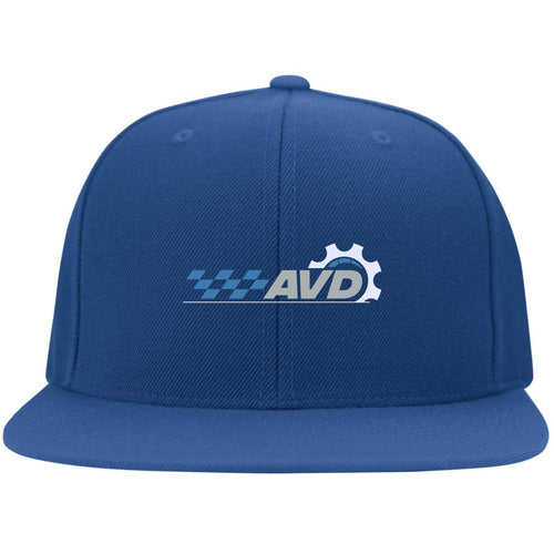 AVD embroidered logo 6297F Flat Bill Fulback Twill Flexfit Cap