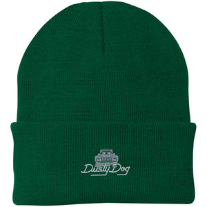 Dusty Dog silver embroidered logo CP90 Port Authority Knit Cap