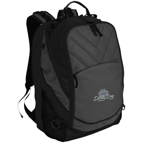 Dusty Dog silver embroidered logo BG100 Port Authority Laptop Computer Backpack