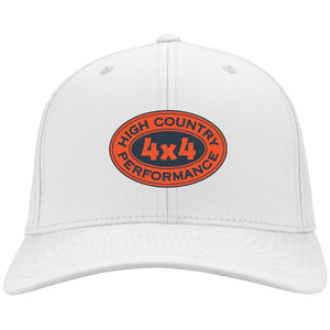 HCP4x4 orange & blue embroidered logo C813 Port Authority Flex Fit Twill Baseball Cap