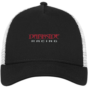 Dark Side Racing red. black & silver embroidered NE205 New Era® Snapback Trucker Cap