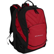 Load image into Gallery viewer, MacMechanic silver embroidered logo BG100 Port Authority Laptop Computer Backpack