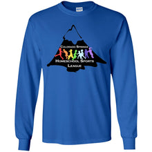 Load image into Gallery viewer, CO Springs Home School Sports League G240B Gildan Youth LS T-Shirt