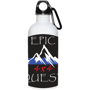 Epic 4x4 Quest full wrap around logo 23663 20 oz. Stainless Steel Water Bottle