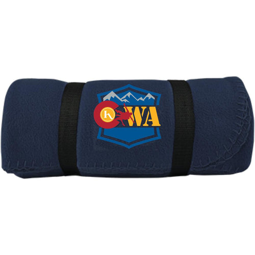 CWA embroidered logo BP10 Port & Co. Fleece Blanket