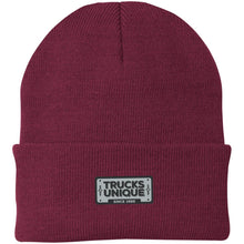 Load image into Gallery viewer, Trucks Unique black & silver embroidered logo CP90 Port Authority Knit Cap