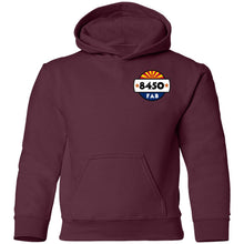 Load image into Gallery viewer, 8450 Fabrication 2-sided print G185B Gildan Youth Pullover Hoodie