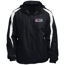 Load image into Gallery viewer, GenRight embroidered logo JST81 Fleece Lined Colorblocked Hooded Jacket