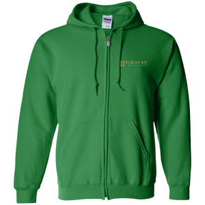 Rouse Projects - Gold & Silver embroidered G186 Gildan Zip Up Hooded Sweatshirt