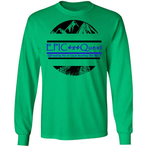 Circle EPIC Mountain Black and Blue G240 LS Ultra Cotton T-Shirt