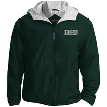 Load image into Gallery viewer, SASKINGZ silver embroidered logo JP56 Port Authority Team Jacket