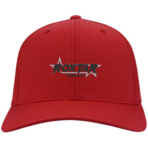 Roxtar Trux black and silver embroidered logo C813 Port Authority Fullback Flex Fit Twill Baseball Cap