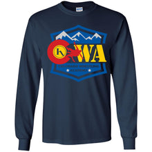 Load image into Gallery viewer, Colorado Wrestling Academy 2-sided print G240B Gildan Youth LS T-Shirt