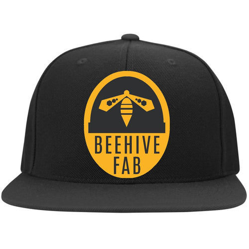 Beehive FAB embroidered logo 6297F Flat Bill Fulback Twill Flexfit Cap