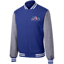 Load image into Gallery viewer, AFA embroidered logo ST270 Sport-Tek Fleece Letterman Jacket
