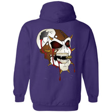 Load image into Gallery viewer, Dark Side Racing 2-sided print w/ skull on back G185 Gildan Pullover Hoodie 8 oz.